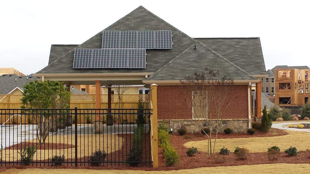 A solar powered model home in Lennar\'s Harrison Park Neighborhood.