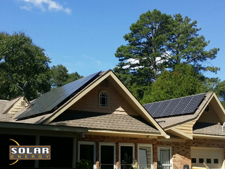 Off-grid solar powered home installation in Cumming, GA.