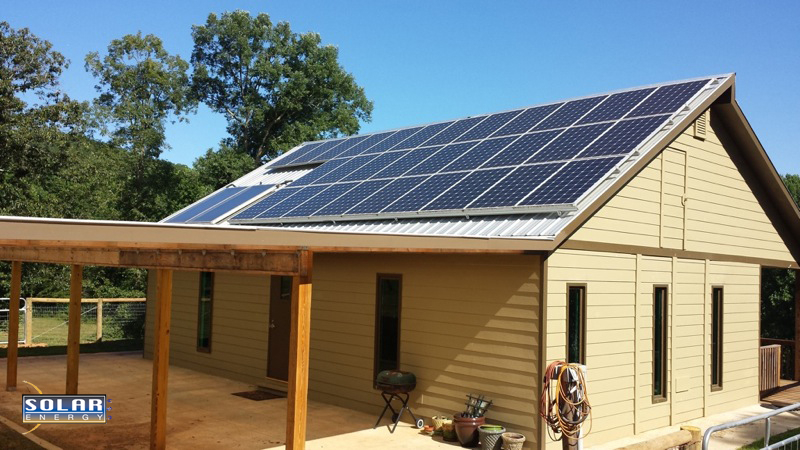 An off-grid solar powered home installation in North Georgia.