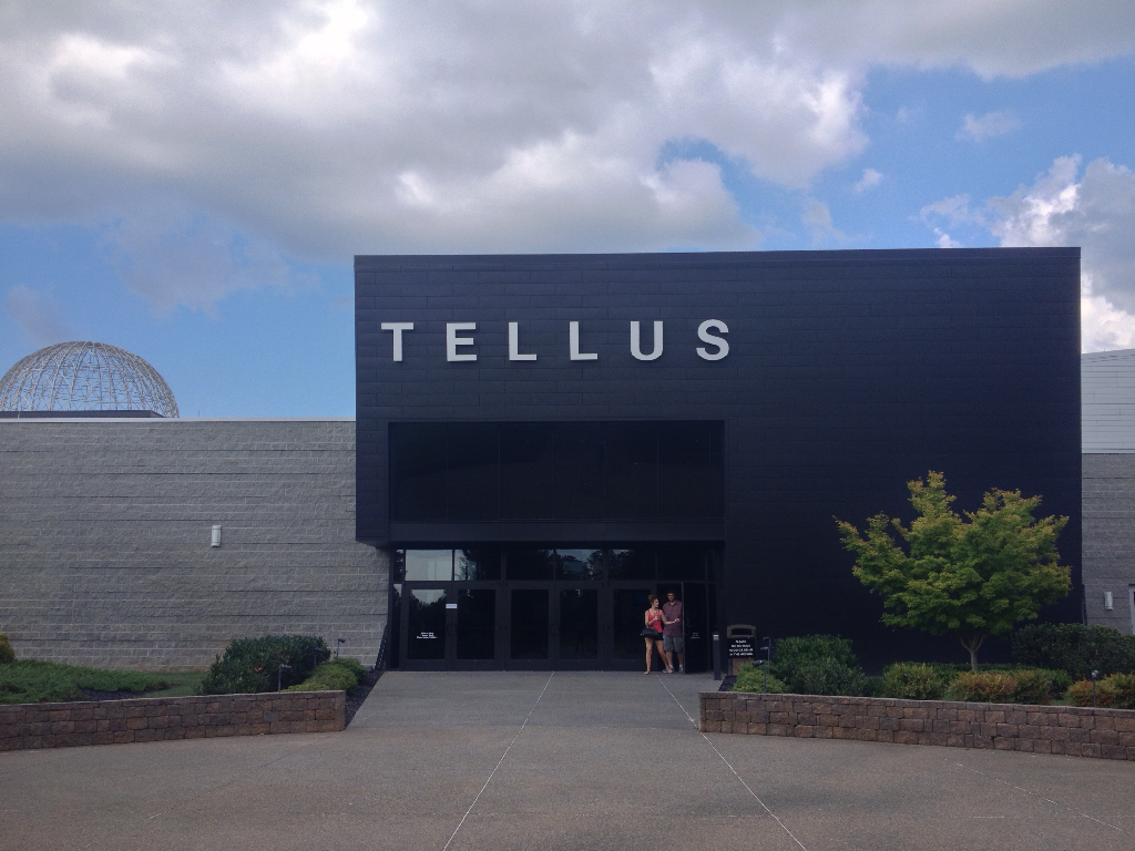 Exterior of the Tellus Northwest Georgia Science Museum in Cartersville