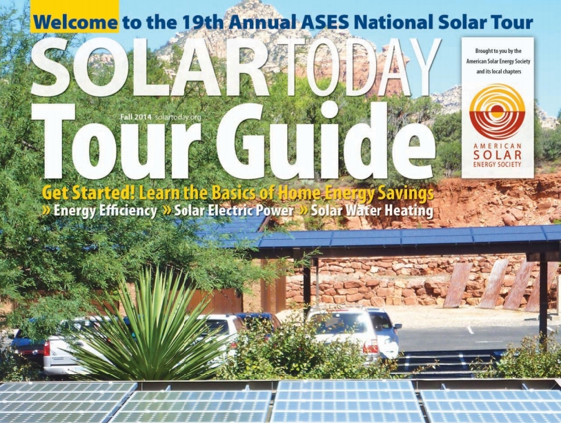 The 2014 ASES National Solar Home Tour is October 4-5th.