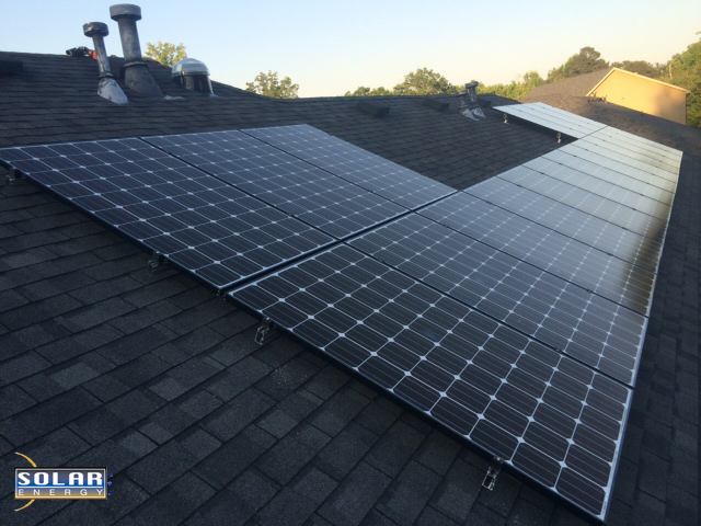 20 275 watt solar PV panels for a total of 5.3 kW worth of solar energy in Lithia Springs, Georgia.