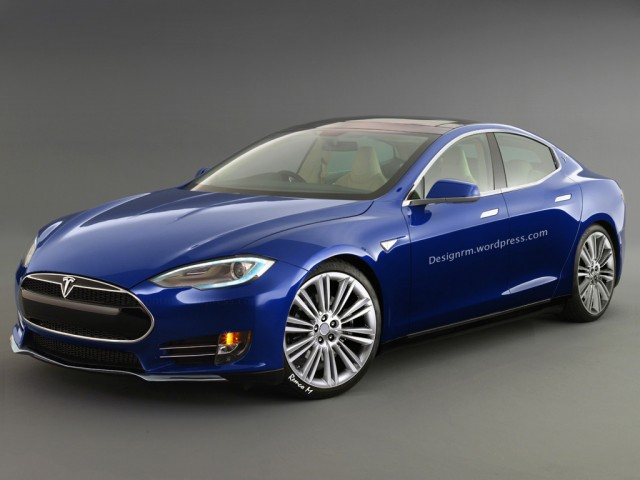 An artist\'s rendition of the Tesla Model III