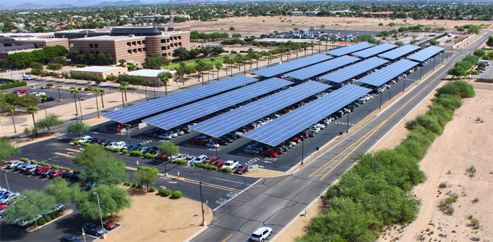 asu-solar-canopy-ev-parking & Solar Energy Is Coming To A Stadium Near You | Solar Energy USA