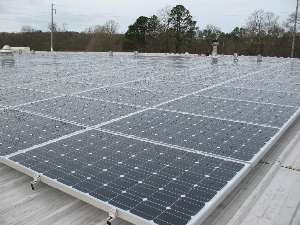 Commercial Solar Install Case Study 220 Panel Pv Array In Wiring North Georgia 5